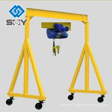 Hand Push Simple Gantry Crane 5t With Chain Hoist or Electric Hoist