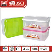 plastic storage container w/wheels 12L