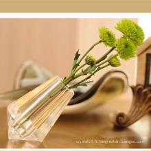 Vase original de fleur de cristal de K9 pour la décoration à la maison