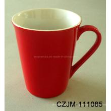 Keramische rote Tasse in Neuheit Design