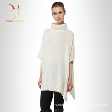 Weiße Pashmina Wolle Poncho Capes Kleid Schal Wrap