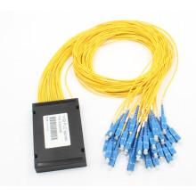 1X32 Single Mode Fiber Optic PLC Splitter with ABS Cassette