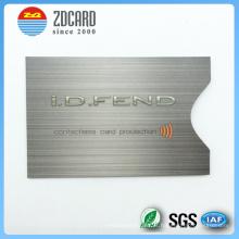 Personalizado papel de alumínio impresso papel RFID bloqueio titular do cartão