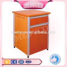 Hospital bedside cabinet with drawer