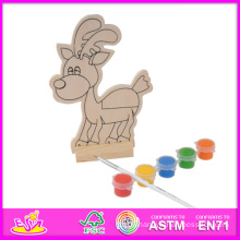 2015 New and Popular Play Paint Toy Kid Toy, Cheap DIY Wooden Toy Kid Toy, Educational Toy Wooden Paint Kid Toy W03A050