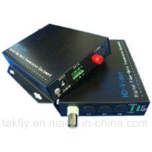 Convertidor video de fibra óptica de 1CH Cvi Tvi Ahd con RS485 / RS422 / RS232
