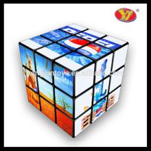 Colorido diferente forma personalizado pritned cubos mágicos quebra-cabeças brinquedos educativos para crianças crianças