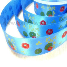 Polyester Print Satin Ribbon with Polyester