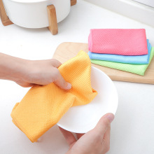 Double-sided Fish Scale Mictofiber Kitchen Wipe Cloth