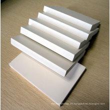 tablero blanco de la espuma del PVC, hoja del PVC