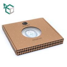 Boîte de papier ondulée faite sur commande de plats de mode avec la fenêtre de PVC