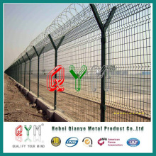 Airport Fence /with Razor Wire on Top/Polyester Powder Coated