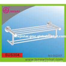 304 Stainless Steel Bathroom Towel Rack , Towel Bar Shelf