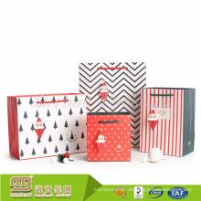 Alibaba Großhandel Personalisierte White Christmas Kleine Geschenk Papiertüte mit Griffen in Groß