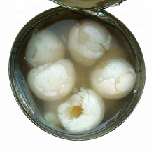Canned fruit canned lychee / litchi whole / broken in light syrup or in heavy syrup