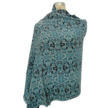 10% cashmere 90% wool printed shawl