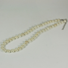 White Pearl Bead Necklace for Women