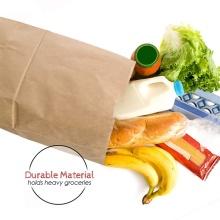 Sacola de compras de moda para viagem personalizada sacola de papel kraft marrom