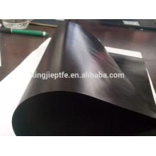 0.13mm tecido antiestático com ptfe preto pano revestido de fibra de vidro