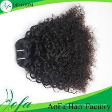 Extension de cheveux humains vierges Afro Mongoline Kinky Curly Hair