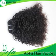 Extensão Kinky Kinky do cabelo humano do Virgin do cabelo encaracolado do Afro