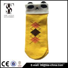 Nettes Ausdruck-Knöchel-Kleid-Socken-Baumwollfrauen-Mädchen-Karikatur-Gesichts-Kurzschluss-Boots-Socke