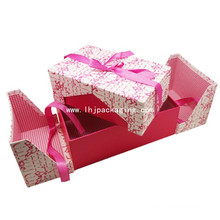 High Quality Double Door Gift Packing Box with Ribbon