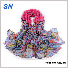 Made in China Supplier Hot Sale Stock Long Voile Scarf