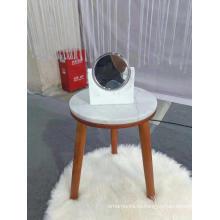 Белый мраморный круглый средний стол