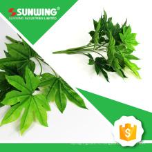 оптовая природных прикосновением ладони искусственного листьев для украшения с УФ