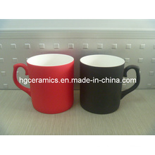 Color Change Fine Bone China Mug; Taza fina de China de hueso