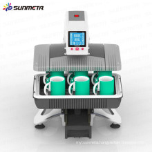 Sunmeta newest Auto-Pneumatic 3D Sublimation mug printing, t-shirt transfer all in 1 machine ST-420