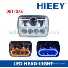 "DOT complied 5""x7"" rectangle LED high beam and low beam head light headlight auto head lamp"