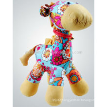 Most Welcomed Fashion Printed Fabric Happy Horse Plush Toy