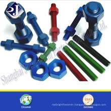 Oil pipe stud bolt and nut Stud bolt with two nut A193 B7 Ptfe stud bolt