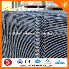 3d welded curved fence/green coated 3D fence panel