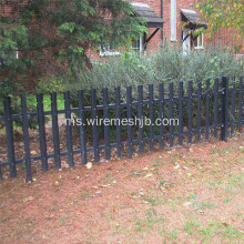 D Seksyen Rounded Notch Palisade Fencing