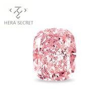 ForeverFlame fancy pink 12.5ct cushion cut diamond CVD CZ color  Moissanite