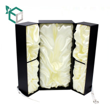 High End Custom Fancy Paperboard Perfume Bottle Packaging Box With Leather Belt Lock