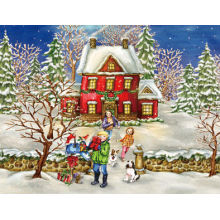 Newest Design 3D Effect Festival Christmas Greeting Card