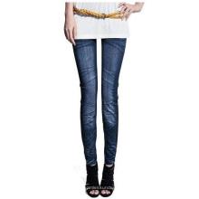 Jeans de punto sin costuras de papel impresas Leggings para las mujeres