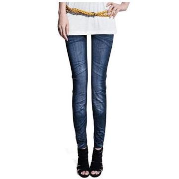 Leggings imprimés en papier Jeans tricotés sans couture pour femmes