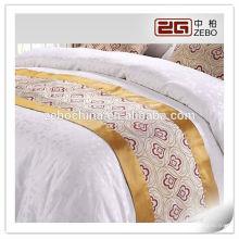 100% Poliéster Tela Jacquard Hotel de 5 estrelas Usado High Quality Bed Runner