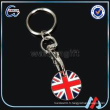 Chariot de panier en métal canadien Collier de monnaie / panier monnaie porte-clés / promotion de bureau Porte-clés de cadeau