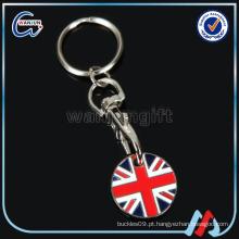 Metal canadense carro de compras moeda corrente chave / carrinho moeda chaveiro / escritório promoção dom corrente