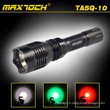 Maxtoch TA5Q-10 Rechargezble 18650 aluminium lampe de poche pour la chasse