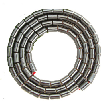 Perles Tube Hématite 4X6MM