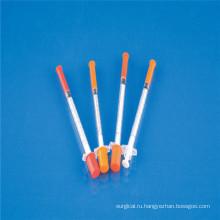 Одноразовый шприц для инсулина 0,5 мл с иглой (CE)