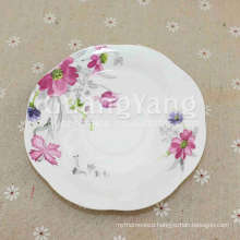 Good Quality Brandy New Bone China Unglazed Ceramic Plate