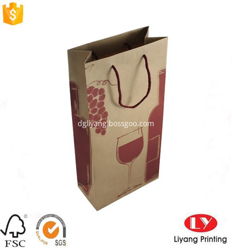 kraft paper wine bag